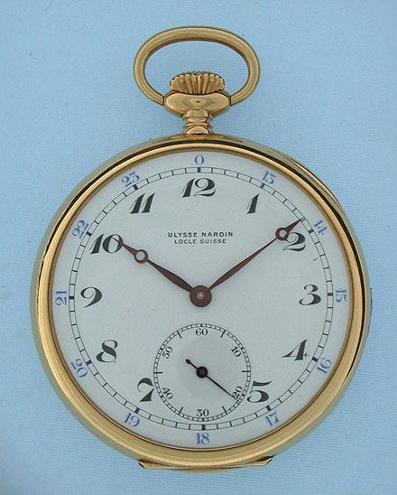 Antique Pocket Watches Ulysse Nardin Pocket Chronometer
