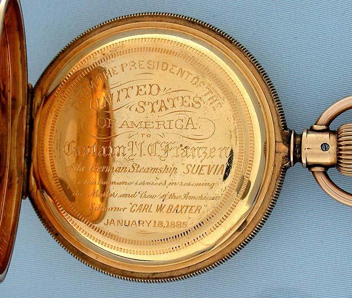 Bogoff Antique Pocket Watches U.S. Presidential Presentation Watch - Bogoff  Antique Pocket Watch # 6568